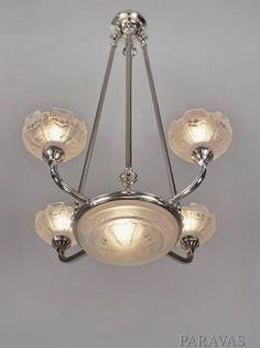 SABINO 1930 Art Deco chandelier deckenlampe France - Catawiki