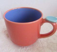 Lindt-Stymeist Colorways Thumbprint Mug Salmon Blue Turquoise #LindtStymeist