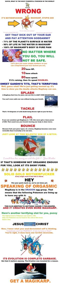 Why Magikarp is the mightiest pokemon...bahaha its funny because it useless