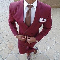 the-black-gentleman: modernday-siren: Antonio Ambrosio (… Mens Burgundy Blazer, Burgundy Dress, Burgundy Shoes, White Dress, Mens Fashion Blog, Men's Fashion, Formal Fashion, Fashion Ideas, Shoes