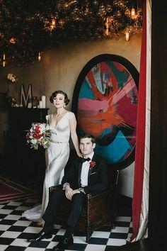 vintage wedding at Gramercy Park Hotel - photo by Lev Kuperman http://ruffledblog.com/vintage-wedding-at-gramercy-park-hotel
