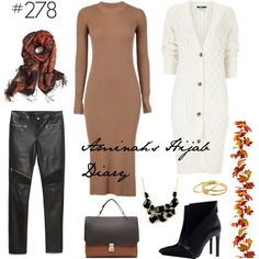#278 Urban Chic by aminahs-hijab-diary on Polyvore featuring Zara, Emi Jewellery, Gorjana and Iman