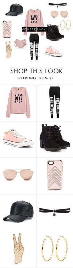 """Caution: May contain fierceness!!!"" by lovlylivi ❤ liked on Polyvore featuring Converse, Red Herring, Linda Farrow, Rebecca Minkoff, Fallon and Lucky Brand"