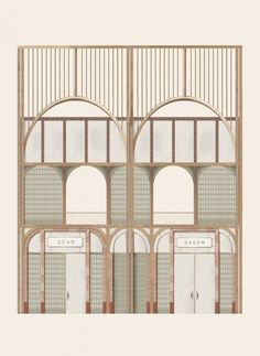 Ruth Pearn envisions public bathhouse to fight period poverty in Yorkshire Kingston, Architecture Drawings, Facade Architecture, Architecture Career, Architecture Portfolio, Sustainable Architecture, Facade Design, House Design, Architecture Restaurant