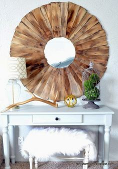 How to Make Your Own Oversized Statement Mirror!