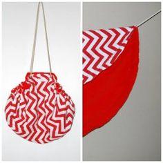 Moochi sun bag red chevron Red Chevron, Pot Holders, Sun, Christmas Ornaments, Holiday Decor, Bags, Home Decor, Xmas Ornaments, Handbags