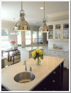 kitchen pendant lights ( but I need them in bronze )