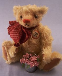 Artist mohair bear Beannie by bug1 on Etsy, $120.00