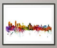 Liverpool England Skyline, Art Print (47) on Etsy, $22.40