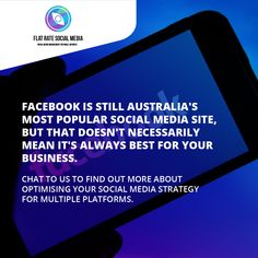 Facebook is still Australia's most popular social media site, but that doesn't necessarily mean it's always best for your business. Chat to us to find out more about optimising your social media strategy for multiple platforms. Get in touch for a Free Social Media Audit 😎
