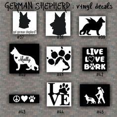 German Shepherd Dog Paw Print Car Truck Window Vinyl Decal Sticker - Window vinyl stickers