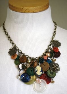Buttons - I wonder if I could make something like this from Grandma's old button collection. :)