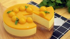 2019 No-Bake Mango Cheesecake [Eggless] - マンゴーレアチーズケーキの作り方 Mango Cheesecake, Cheesecake Recipes, Dessert Recipes, Mango Mousse Cake, Just Desserts, Delicious Desserts, Easy Cooking, Cooking Recipes, Cheesecake