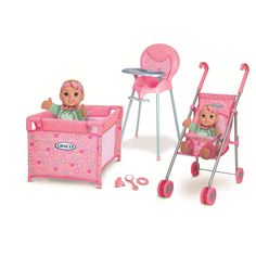 """Graco Room Full of Fun Baby Doll Playset - Multi Dot - Tolly Tots - Toys """"R"""" Us"""