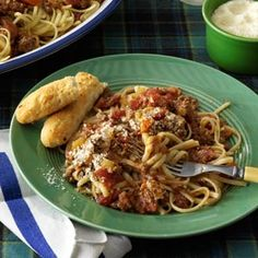 Beef Bolognese with Linguine *