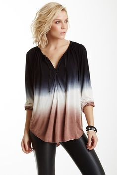 Ang Ombre Peasant Top by Young Fabulous & Broke on @HauteLook