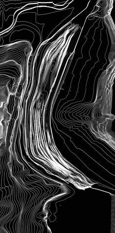 conceptual sketch  Zaha Hadid #black #light #design #art #architecture #graphisme #abstract