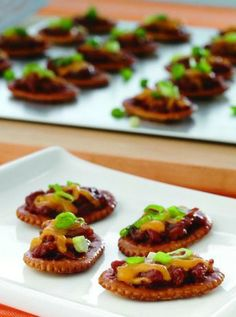 """Easy BBQ Bites—these mini """"sandwiches"""" are a perfect, crowd-pleasing appetizer!"""