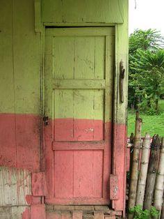 weathered popsicle door - ecuador