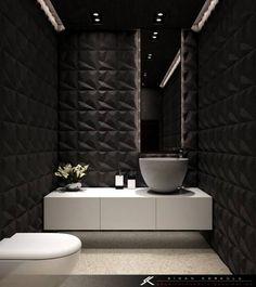 Badezimmer Artikel schwarzes bad holzboden tapete barock muster grosser runder