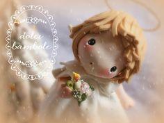 Forse gli angeli sono le nostre idee migliori vaganti nello spazio. (Kahlil Gibran) Holly Hobbie, Pasta Flexible, Sugar Art, Cold Porcelain, Stop Motion, Cake Art, Polymer Clay, Sculptures, Creations