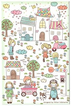 Doodle Drawings, Easy Drawings, Doodle Art, Doodle Kids, Drawing For Kids, Line Drawing, Art For Kids, Kawaii Doodles, Cute Doodles