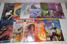 Vintage gamer Duelist Magazine Lot 1994, 1995, 1996 Magic The Gathering Deckmaster Magazine