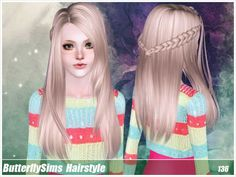 Hairstyle 136 by Butterfly Sims - Sims 3 Hairs Sims 3 Mods, Sims Cc, Sims 3 Toddler Hair, Marigold Sims 4, Sims 3 Cc Finds, Film Manga, The Sims 4 Cabelos, Sims House Design, Free Sims