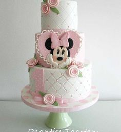 Quilted Minnie Mouse Birthday Cake