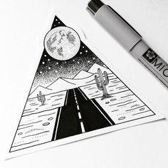 Great dotart by @kimbeckerdesign #art #artist #dotwork #dotart #design #artoftheday #dot #details #tattoo#black #and #white #beautiful #road #moon #illustration #dessert #ontheroad #inkdrawing #awesome #repost #instaartist #artwork #instaart #f4f #blackwork #blackandwhite #l4l #regrann #perception8
