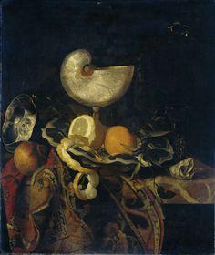 Still Life with Nautilus CupStilleven met Nautilusbeker, F. Sant-Acker, 1648 - 1688