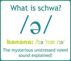 The reduced vowel sound called schwa is the most common vowel sound in spoken English. Schwa is a quick, relaxed, neutral vowel pronunciation very close to a 'short u' /ʌ/. The purpose of schwa is to allow unstressed syllables to be said more quickly so the main beats of spoken words are easier to place on the stressed syllables.