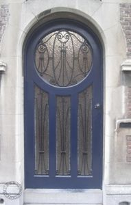 1930s (source is a Dutch site with many Art Nouveau doors and detail shots)