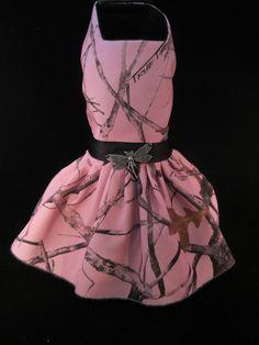 http://www.ebay.com/usr/kim_0305   ................   NEW Dog Dress_ Pink Camo Girl _  #handmade _ http://www.ebay.com/usr/kim_0305