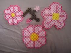 Cherry Blossoms perler beads by *PerlerHime on deviantART
