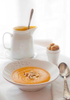 Pumpkin chestnuts soup