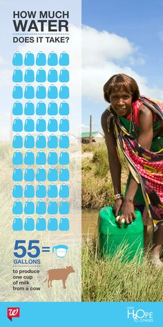 Did you know? 52 gallons of water is needed to produce ONE egg. Give H2OPE to Others and help us reach our goal of donating 15 million gallons of clean water to families in need.