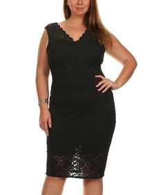 This Status Array Black Lace Sleeveless Dress - Plus by Status Array is perfect! #zulilyfinds