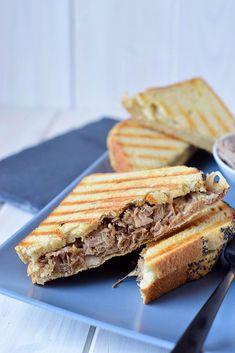 BBQ Pulled Pork Sandwich mit Coleslaw