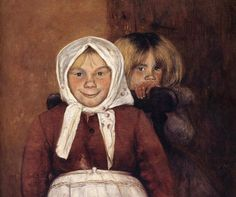 Vinnar's brother and sister, 1898 - by Hugo Simberg - Finnish St John's Church, Amber Tree, Drawing School, Different Kinds Of Art, Boy Fishing, Beauty In Art, Female Art, Art Pictures, Art Drawings