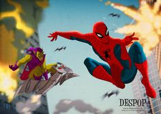 """Spider-Man and the Green Goblin"" by Des Taylor"