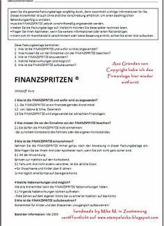 Beipackzettel zu den Finanzspritzen - 05/09