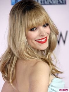 Rachel McAdams at The Vow premiere. Love her red lipstick, too.