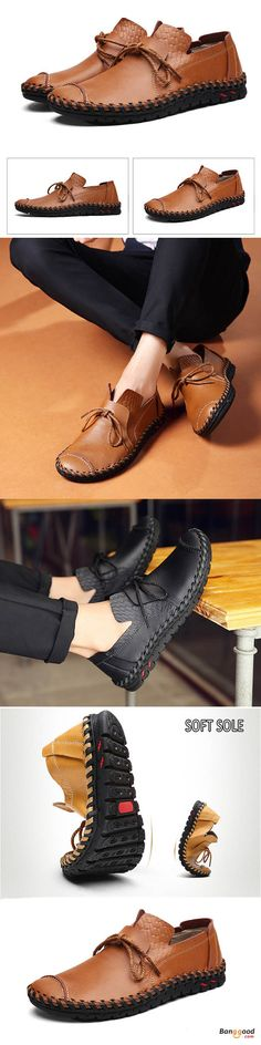 US$49.99 + Free shipping. Men Casual Flats Leather Outdoor Lace Up Soft Round Toe Oxfords. US Size:6.5-11. Color: Black, Brown, Yellow >>> To view further, visit now.