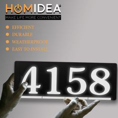 Level up your way of living with homidea backlit lead light house number. Make life more convenient, live life with homidea Led House Numbers, Lead Light, House Address Sign, Family Outing, House Entrance, Light House, Level Up, Family Quotes, Live Life