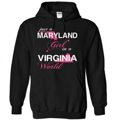 (MDJustHong001) Just A Maryland Girl In A Virginia Worl - #funny tshirt #crewneck sweatshirt. THE BEST => https://www.sunfrog.com/Valentines/-28MDJustHong001-29-Just-A-Maryland-Girl-In-A-Virginia-World-Black-Hoodie.html?68278