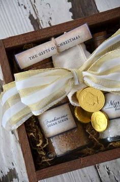 Handmade Christmas Gift Idea. Gold, frankincense & myrrh gift set… Love it!
