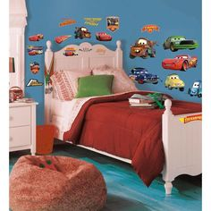 Cars Piston Cup Champs Wall Stickers Movie Kids Decals Gift   #WallstickersCo