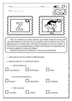 Alfabetizando com Mônica e Turma: Atividades de interpretação com personagens - Y e Z