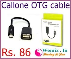Callone OTG cable Rs 86